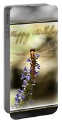 Dragonfly Birthday Card Portable Battery Charger by Carolyn Marshall