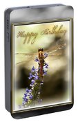 Dragonfly Birthday Card Portable Battery Charger