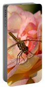 Dragonfly On A Rose Portable Battery Charger