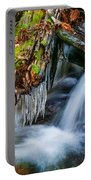 Dragons Teeth Icicles Waterfall Great Smoky Mountains Painted  Portable Battery Charger