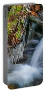 Dragons Teeth Icicles Waterfall Great Smoky Mountains  Portable Battery Charger