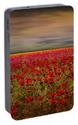Drama Over The Flower Fields Portable Battery Charger