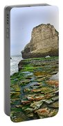 Dramatic Panoramic View Of Shark Fin Cove Portable Battery Charger by Jamie Pham