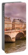 Dramatic Parisian Sky Portable Battery Charger