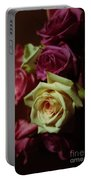 Dramatic Purple And Yellow Roses Portable Battery Charger