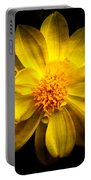 Dramatic Yellow Dahlia Portable Battery Charger