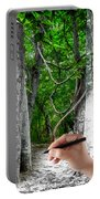 Drawn To The Woods With Imagination Portable Battery Charger