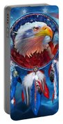 Dream Catcher - Eagle Red White Blue Portable Battery Charger