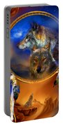 Dream Catcher - Wolf Dreams Portable Battery Charger
