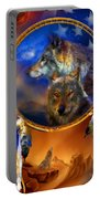 Dream Catcher - Wolf Dreams Patriotic Portable Battery Charger