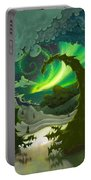 Dream Landscapes Aurora Green Portable Battery Charger