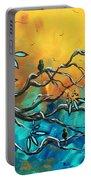 Dream Watchers Original Abstract Bird Painting Portable Battery Charger by Megan Duncanson