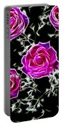 Dream With Roses Portable Battery Charger