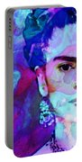Dreaming Of Frida - Art By Sharon Cummings Portable Battery Charger by Sharon Cummings