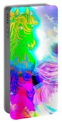 Dreaming Of Rainbow Horses Portable Battery Charger