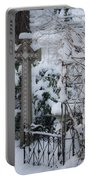 Dreamy Snowy Cross Portable Battery Charger