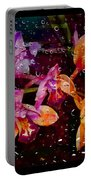 Drenched Flowers Portable Battery Charger