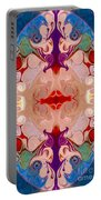Drenched In Awareness Abstract Healing Artwork By Omaste Witkows Portable Battery Charger