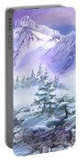 Dressed In White Mount Shuksan Portable Battery Charger