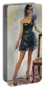 Dressed Up Girl Portable Battery Charger