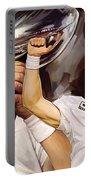 Drew Brees New Orleans Saints Quarterback Artwork Portable Battery Charger