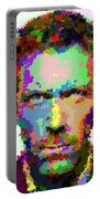 Dr. House Portrait - Abstract Portable Battery Charger