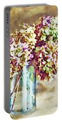 Dried Autumn Hydrangeas - Digital Paint Portable Battery Charger