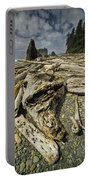Driftwood And Sea Stacks On Ruby Beach Portable Battery Charger