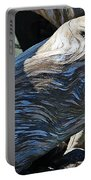 Driftwood Texture And Shadows Portable Battery Charger