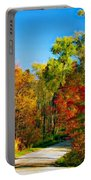 Driving Through Autumn Portable Battery Charger