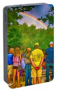 Drum Circle Rainbow Portable Battery Charger