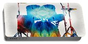 Drum Set Art - Color Fusion Drums - By Sharon Cummings Portable Battery Charger