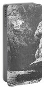 Dry Desert Waterfall Pencil Rendering Portable Battery Charger