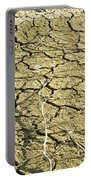 Dry Soil In Lake Bottom During Dryness Portable Battery Charger