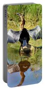 Drying Her Wings Portable Battery Charger