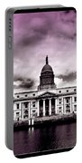 Dublin - The Custom House - Lilac Portable Battery Charger