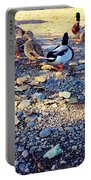 Duck Parade On The Beach Portable Battery Charger