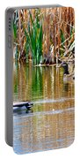 Ducks In A Marsh Portable Battery Charger