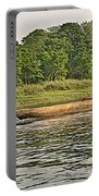 Dugout Canoe In The Rapti River In Chitin National Park-nepal Portable Battery Charger