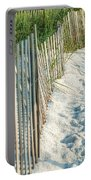 Dune Fence On Beach  Portable Battery Charger