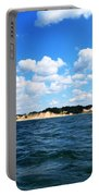 Dunes And Lake Michigan Portable Battery Charger by Michelle Calkins