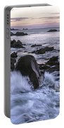Dusk At West Quoddy Head Light Portable Battery Charger