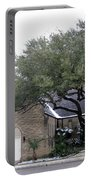 Dusting Of Snow At Church On Pennsylvania St Fort Worth Tx Portable Battery Charger