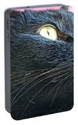 Dusty Black Cat Portable Battery Charger