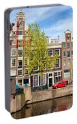 Dutch Canal Houses In Amsterdam Portable Battery Charger