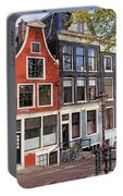 Dutch Style Traditional Houses In Amsterdam Portable Battery Charger