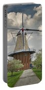 Dutch Windmill The Dezwaan On Windmill Island In Holland Michigan Portable Battery Charger