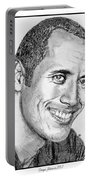 Dwayne Johnson In 2007 Portable Battery Charger by J McCombie
