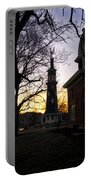 Dwight Windmill At Sunset Portable Battery Charger