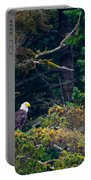 Eagle In Trees  Portable Battery Charger